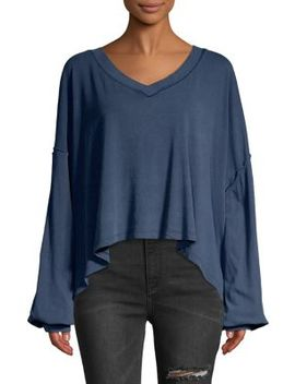 V Neck Puff Sleeve Sweater by Free People