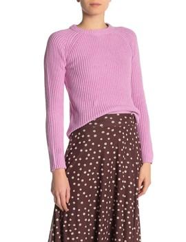 Long Raglan Sleeve Knit Sweater by 525 America