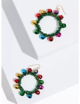 Multicolored Holiday Wreath Jingle Statement Earrings by Torrid
