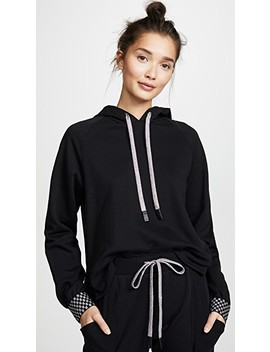 Checkerboard Cuff Hoodie by Terez