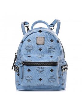 Mcm Visetos Side Stud X Mini Stark Bebe Boo Backpack Blue by Mcm