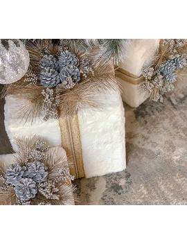 Inspire Me! Home Decor Set Of 3 Faux Fur Decorative Presents by Inspire Me!