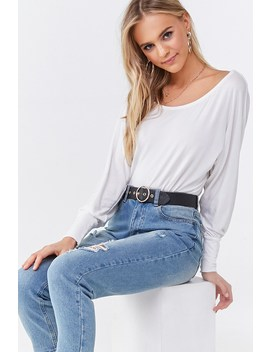 Dolman Sleeve Bodysuit by Forever 21