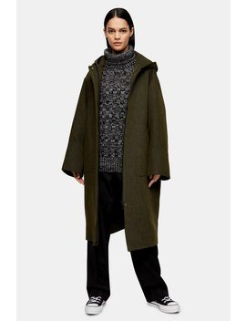 **Khaki Hooded Parka By Boutique by Topshop