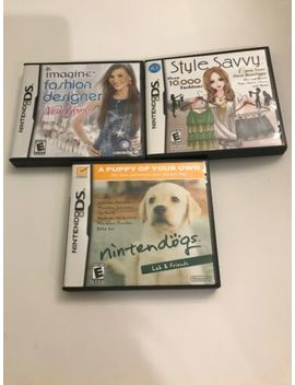 Lot Of 3 Complete Ds Games: Fashion Designer New York Style Savvy Nintendogs by Ebay Seller