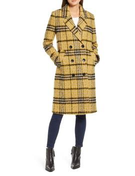 Longline Plaid Coat by Sam Edelman