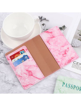 Travel Marble Passport Leather Organizer Holder Card Case Protector Cover Wallet by Unbranded