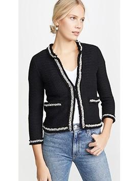 Georgia Short Embellished Sweater Jacket by Alice + Olivia