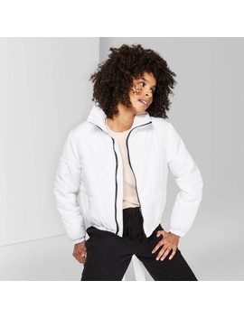 Women's Long Sleeve Zip Up Puffer Jacket   Wild Fable™ by Wild Fable