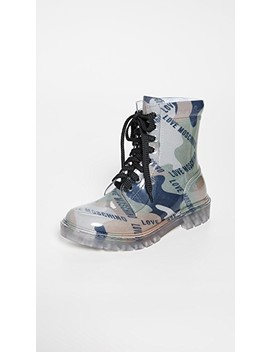Print Boots by Moschino