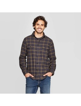 Men's Plaid Standard Fit Long Sleeve Flannel Button Down Shirt   Goodfellow & Co™ by Goodfellow & Co