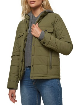 Mikey Water Resistant Quilted Nylon Jacket by O'neill
