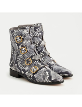 Multi Buckle Boots In Snake Embossed Leather by J.Crew