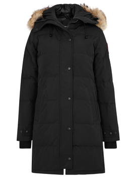 Shelburne Black Fur Trimmed Parka by Canada Goose