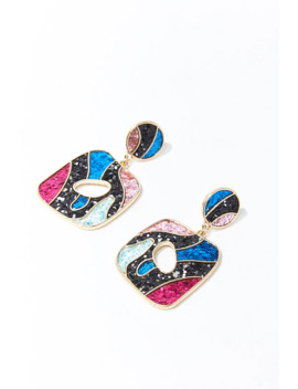 Glittered Geo Drop Earrings by Forever 21