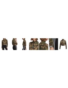 Half Zip Cropped Camo Sweatshirt by Adidas Originals