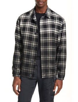 Plaid Button Up Flannel Shirt Jacket by 1017 Alyx 9 Sm