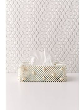 Annabelle Beaded Tissue Box Cover by Urban Outfitters
