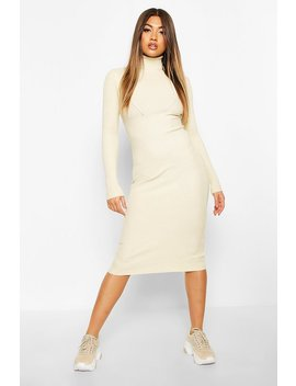 Roll Neck Midaxi Knitted Dress by Boohoo