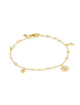 12 K Goldplated Charm Bracelet by Kate Spade New York