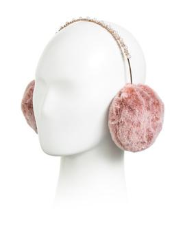 Pearl Diamond Faux Fur Earmuffs by Tj Maxx