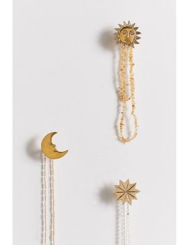 Gilded Moon Wall Hook by Urban Outfitters
