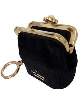 Black Velvet Key Fob Coin Purse Charm Wallet by Kate Spade