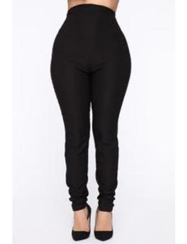 Can't Resist Super High Waisted Pants   Black by Fashion Nova