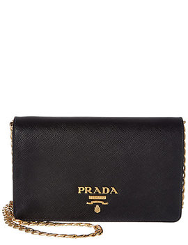 Prada Saffiano Leather Small Wallet On Chain by Prada