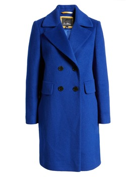 Double Breasted Wool Blend Coat by Sam Edelman