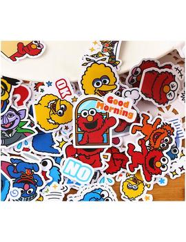 Inspired 40pcs Sesame Street Oscar Elmo Cookie Planner Stickers, Vinyl Sticker, Journal Stickers, Kawaii Stamps, , Luggage Kit, Scrapbooking by Etsy