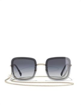 Ch4244 Chain Trim Tinted Sunglasses by Chanel