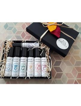Chakra Gift Set, Chakra Aromatherapy Roller Blends, Essential Oil Natural Remedy, Crown Solar Plexus, Third Eye, Heart, Throat, Sacral, Root by Etsy
