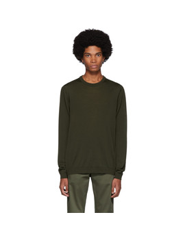 Green Merino Sigfred Sweater by Norse Projects