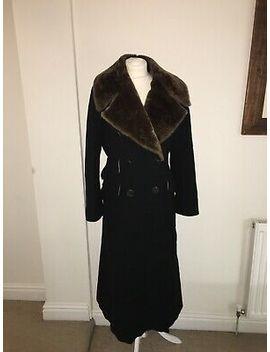 Max Mara Mantello Black Wool Long Coat Size 12 by Max Mara