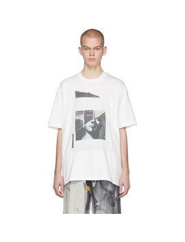 White Oversized Portrait T Shirt by Song For The Mute