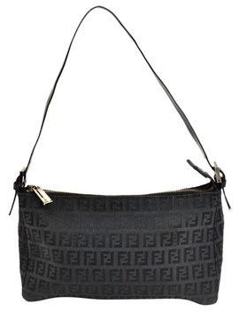 Monogram Canvas Black Baguette by Fendi