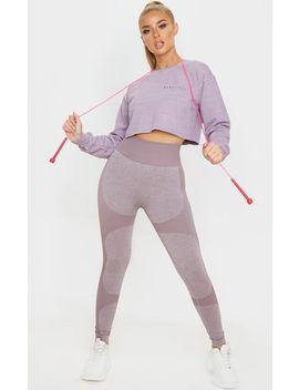 Prettylittlething Mauve Cropped Sports Sweat by Prettylittlething