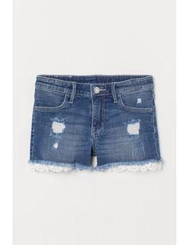 Džínové šortky S Krajkou by H&M