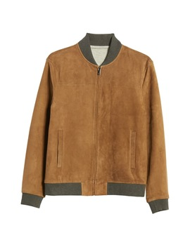 Suede Bomber Jacket by Nordstrom Signature