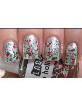 Holiday  Ho Ho Holidays: Christmas Custom Blended Glitter Nail Polish / Lacquer by Etsy