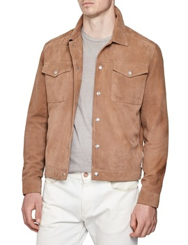 Jaggar Suede Trucker Jacket by Reiss