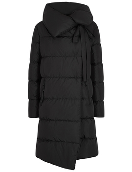 Big Puffa Black Quilted Shell Coat by Bacon