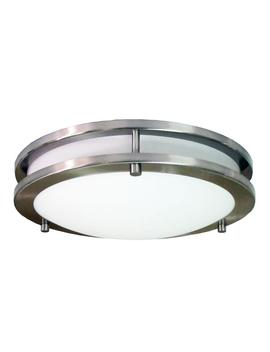 Saturn 2 Light Brushed Nickel Flush Mount by Home Selects
