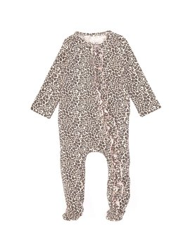 Baby Girls Newborn 9 Months Leopard Print Footed Coverall by Jessica Simpson