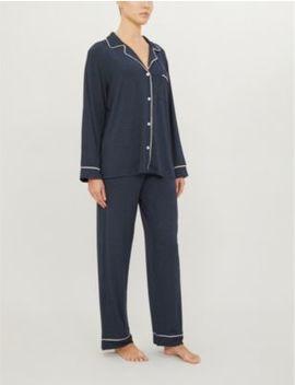 Gisele Contrast Trim Stretch Jersey Pyjama Set by Eberjey