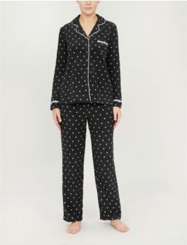 Polka Dot Print Fleece Pyjama Set by Dkny