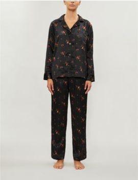 Floral Print Satin Pyjama Set by Ralph Lauren
