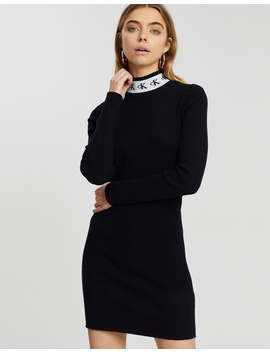 Monogram Tape Sweater Dress by Calvin Klein Jeans