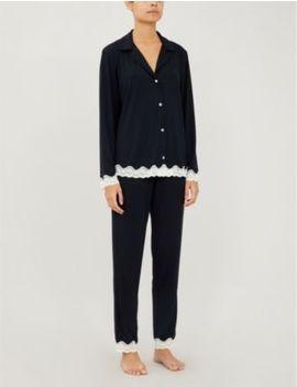 Lady Godiva Stretch Jersey Pyjama Set by Eberjey